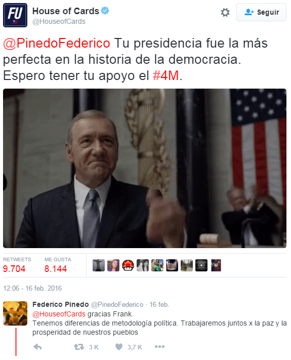 twitter house of cards pinedo